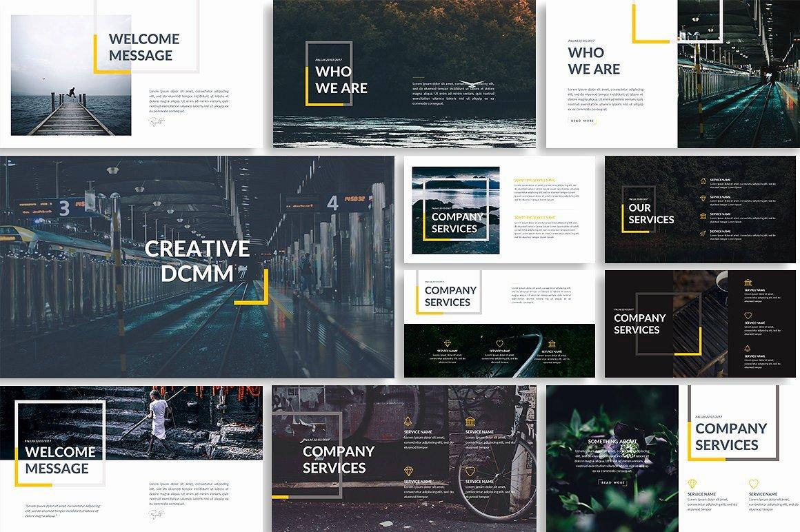 Dcmm Creative Powerpoint Template Presentation