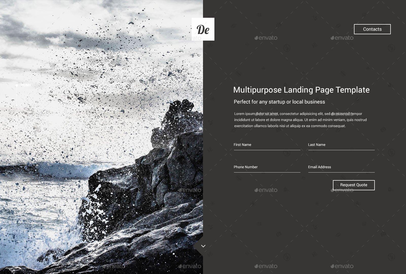 De Landing Ing soon Page Template by Sandrine In