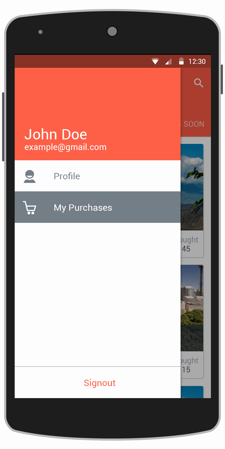 Deals android App Template