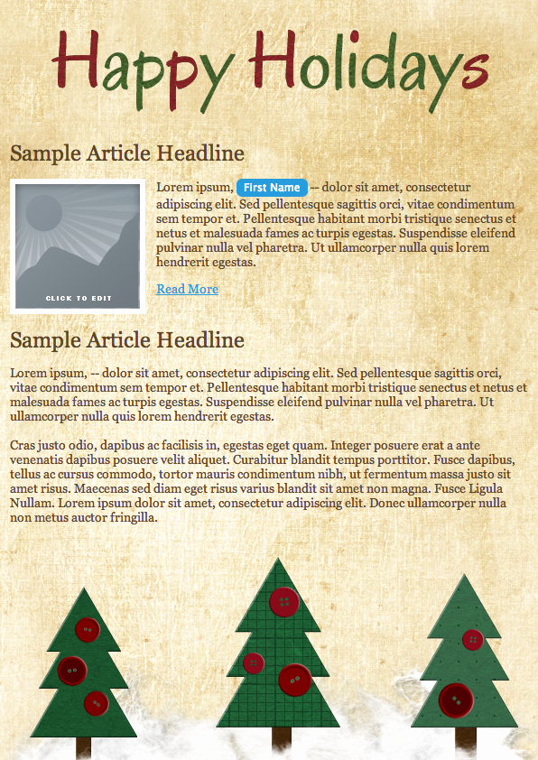 Deck Out Your Email Campaign 5 Free Holiday Templates