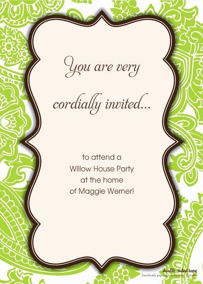 Define Cordially Invited Template