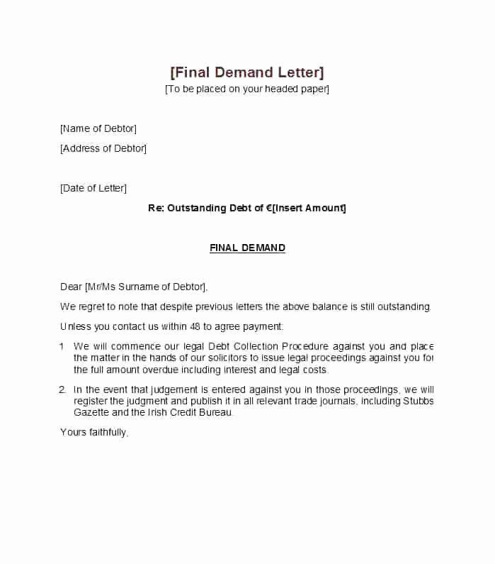 Demand Letter Example Sample Personal Injury Final