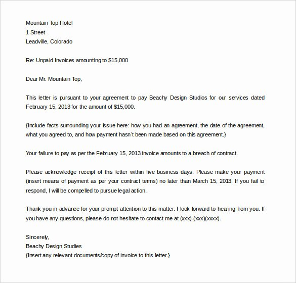 Demand Letter Templates – 9 Free Word Pdf Documents