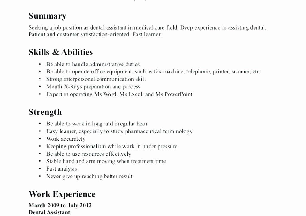Dental assistant Objective for Resume – Monsense Blog