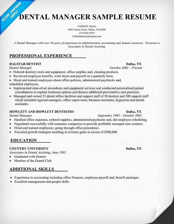 Dental assistant Resume and Resume Examples On Pinterest