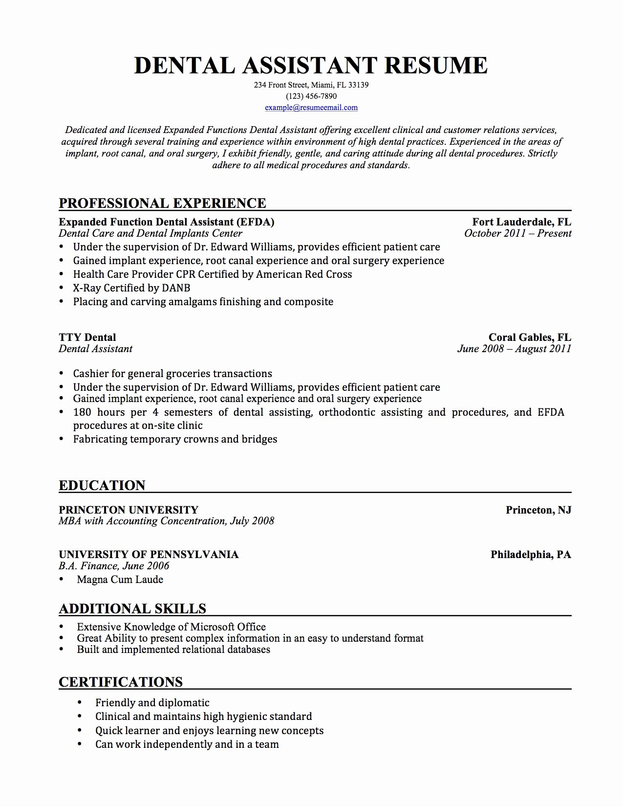 Dental assistant Resume Sample Cover Letter Awesome Dental