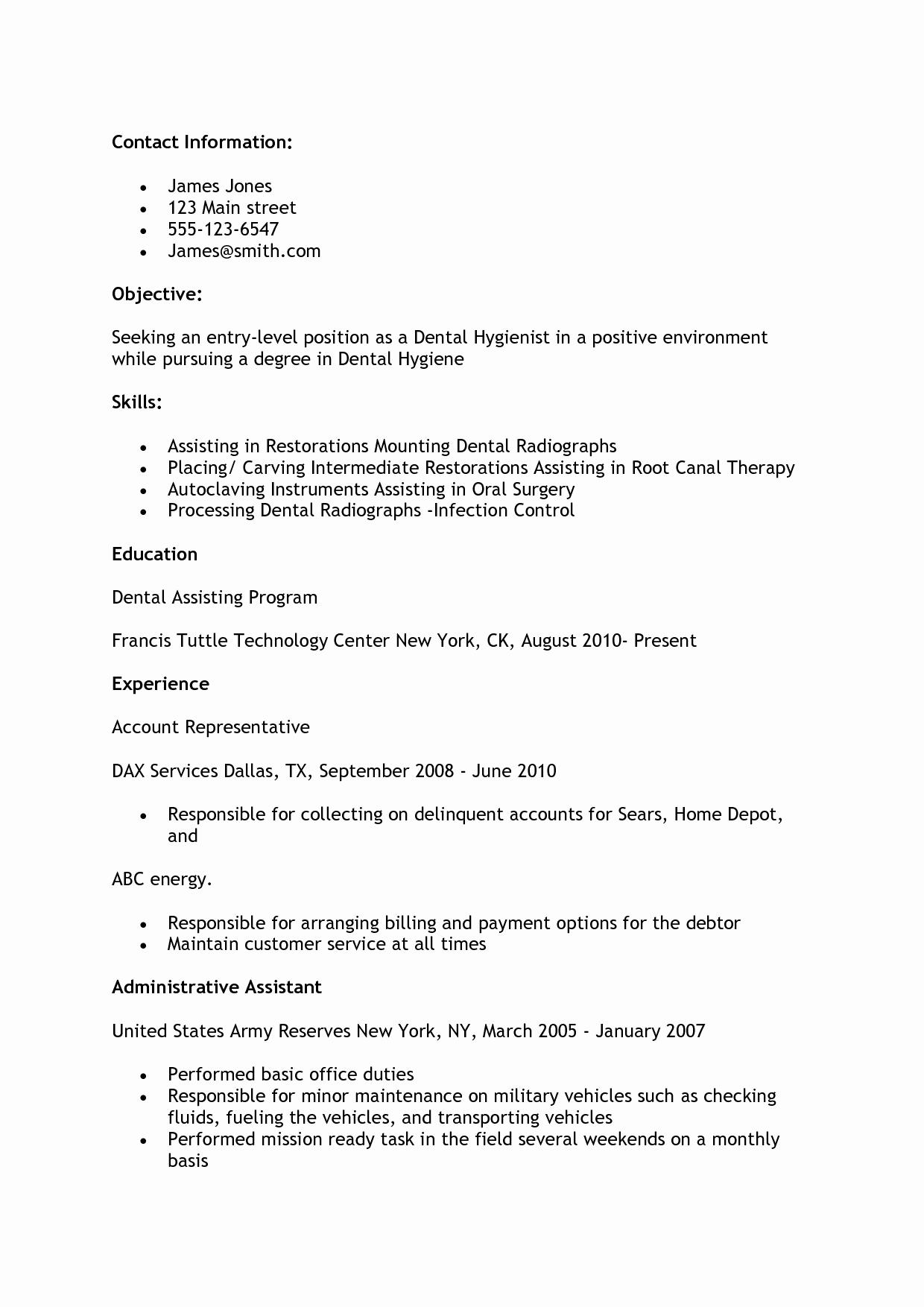 Dental assistant Resume Sample Cover Letter Bongdaao
