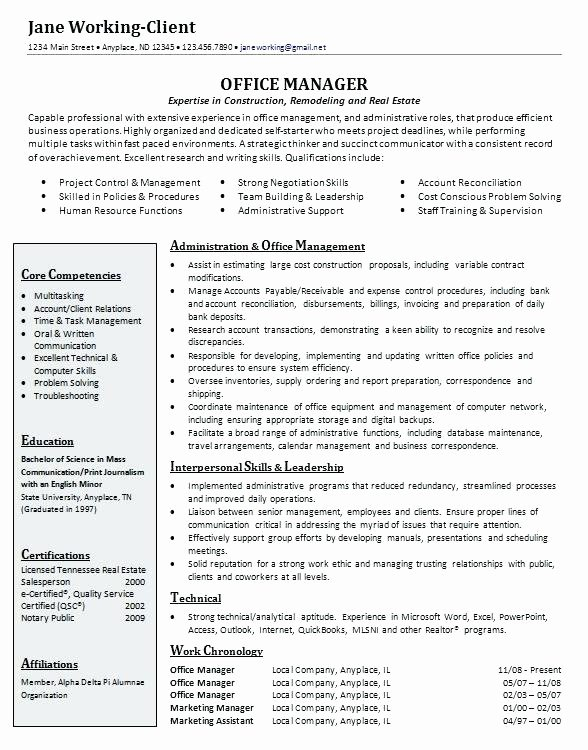 Dental Fice Manager Resume Sample Senior Project Best