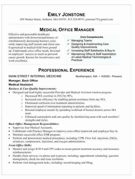Dental Fice Resume Objective