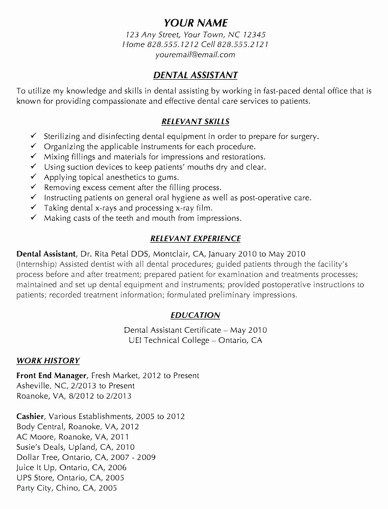 dental manager cover letter