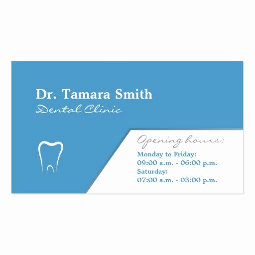 Dentist Dental Fice Business Card Template