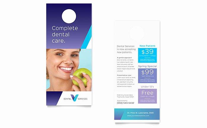 Dentist Rack Card Template Design