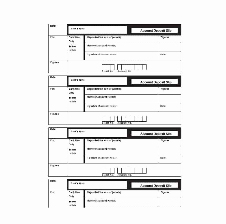 Deposit Slips Template Word Five Things Your Boss Needs to