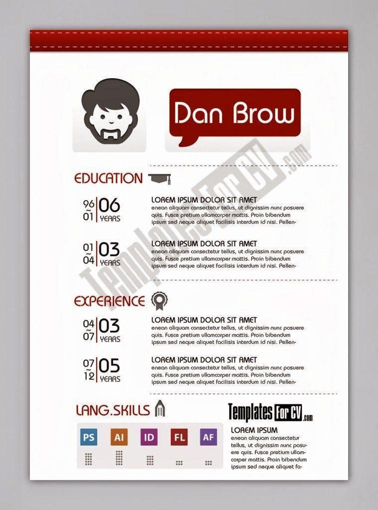 Desain Cv Kreatif Contoh Cv Kreatif Download Link