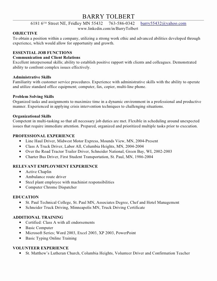 Describe Your Puter Skills Resume Sample