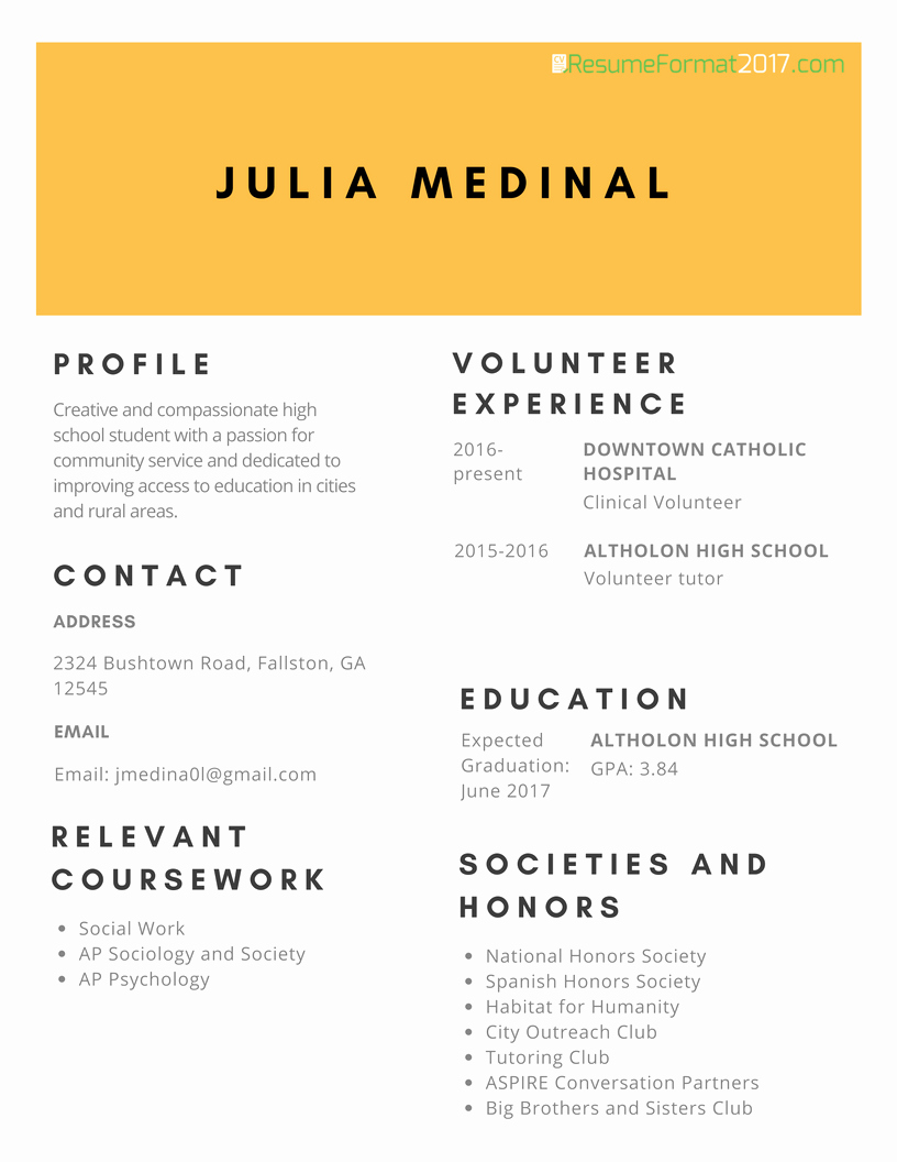 Description Professional Scholarship Resume format 2017