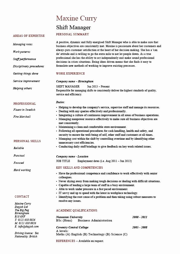Description Resume Best Resume Gallery