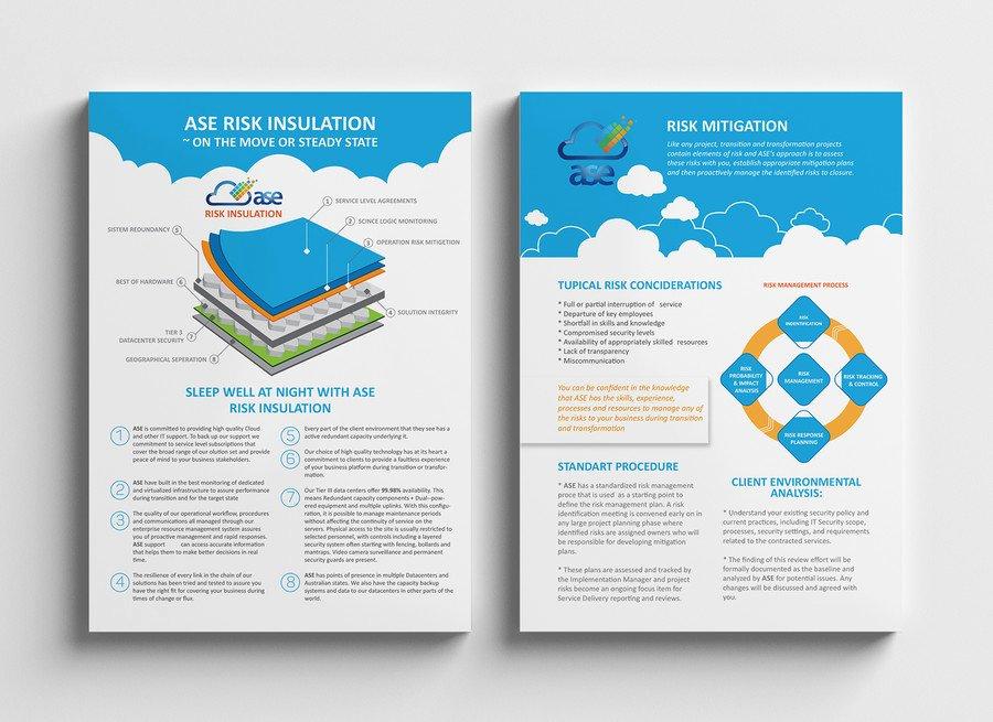 Design A Single A4 Double Sided Brochure