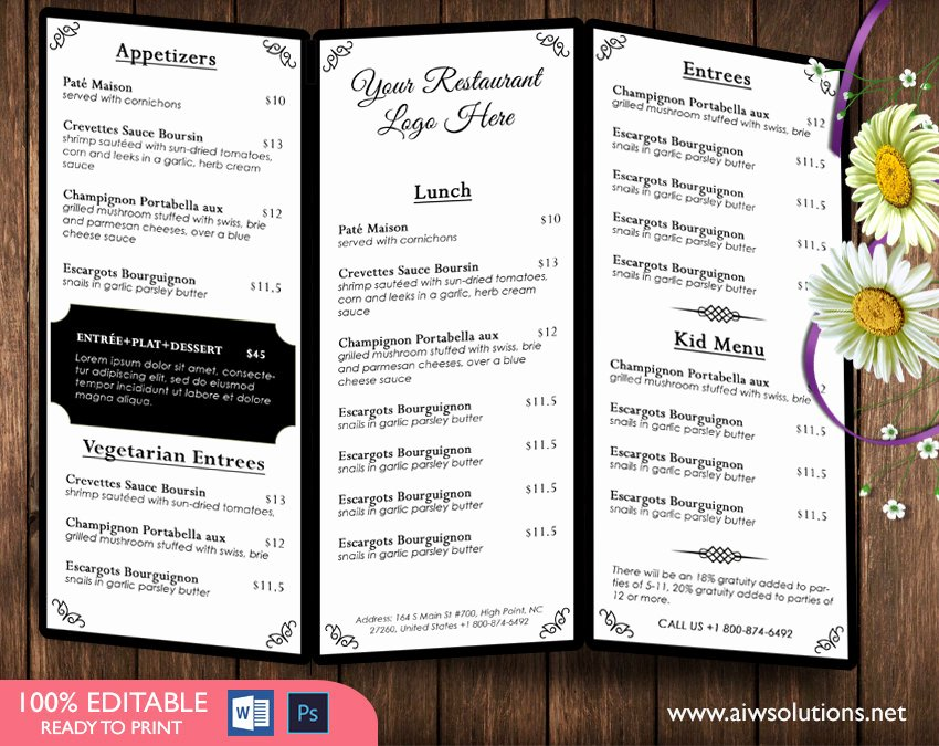 Design & Templates Menu Templates Wedding Menu Food