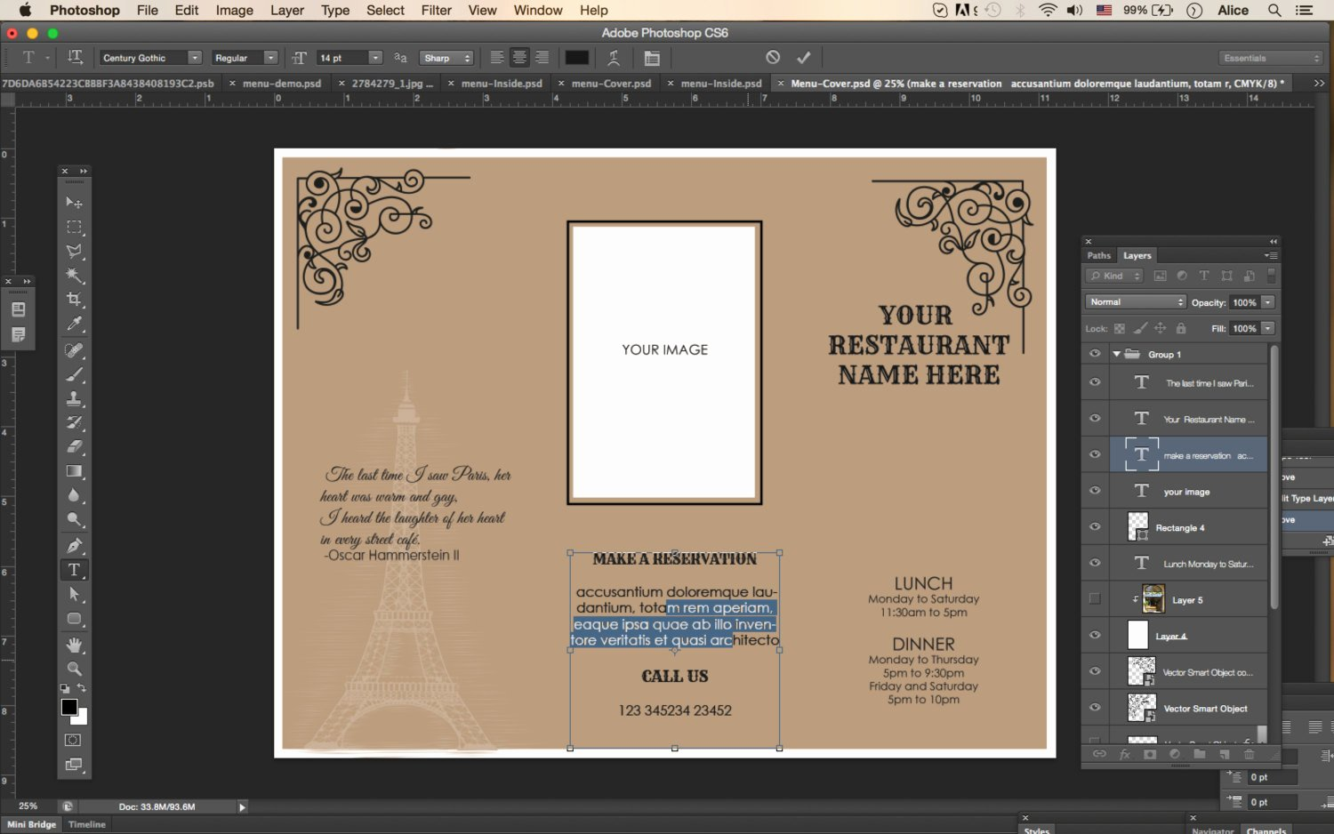 Design & Templates Tri Fold Take Out Menu Menu Templates