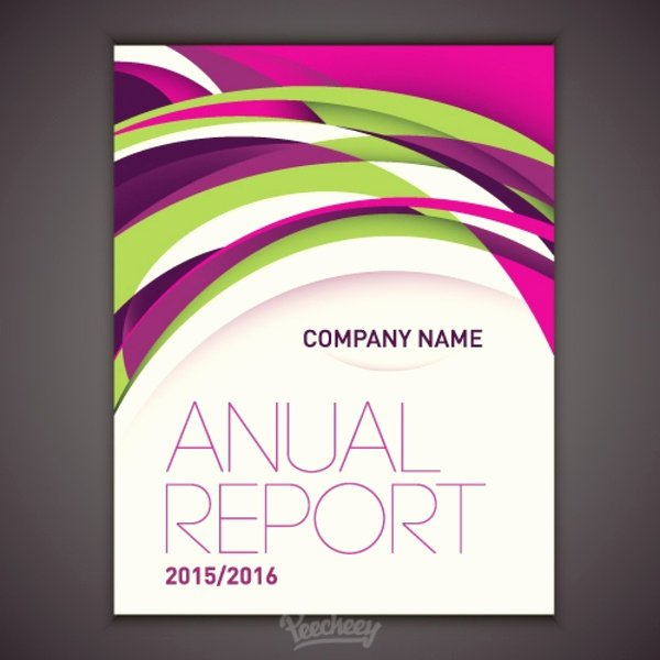 Design for Annual Report Cover Free Vector In Adobe