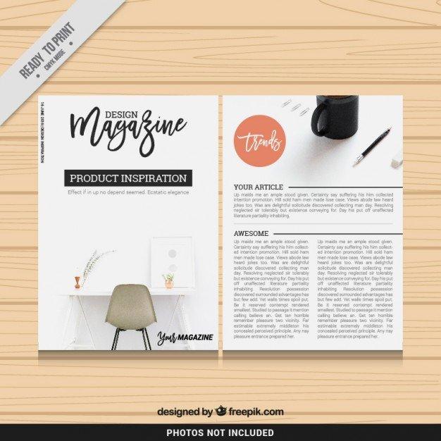 Design Magazine Template Vector