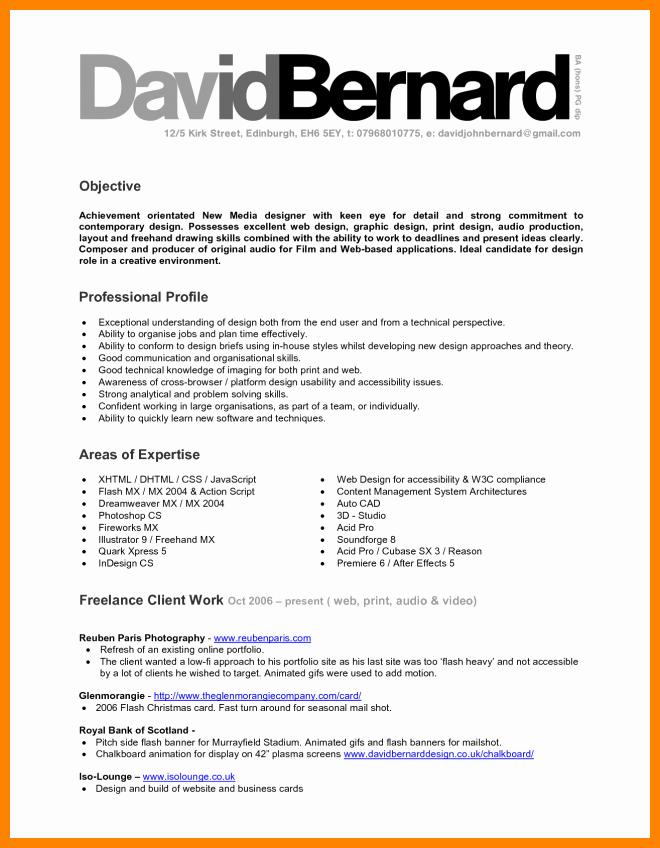 Design Objective Examplesaphic Design Resume Objective