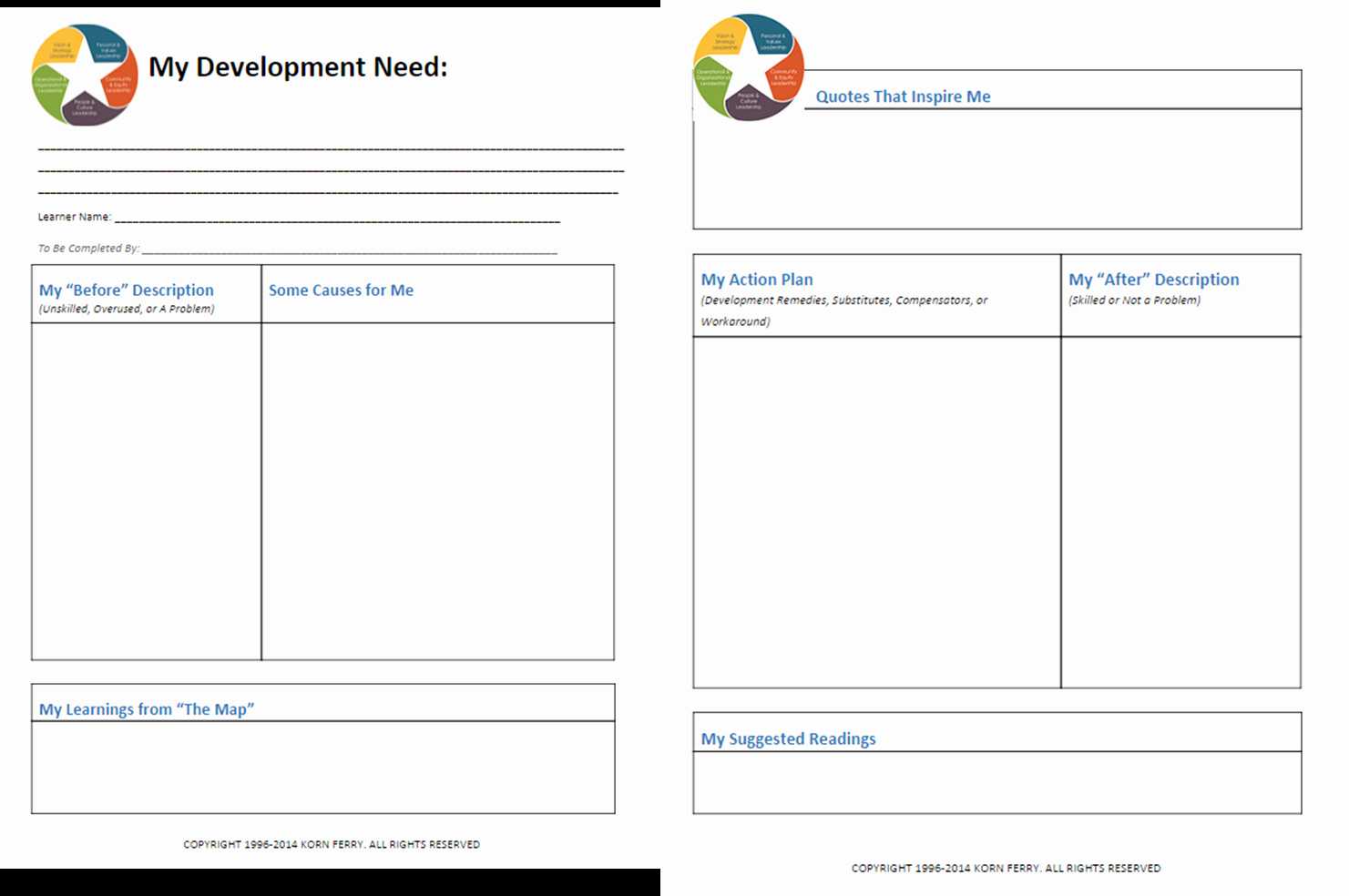 Design Portfolio Template Free Leadership Development