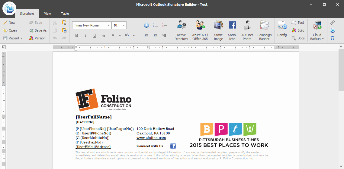 Designing Microsoft Outlook Signatures