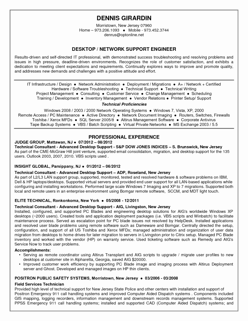Desktop Support Engineer Cover Letter Sarahepps
