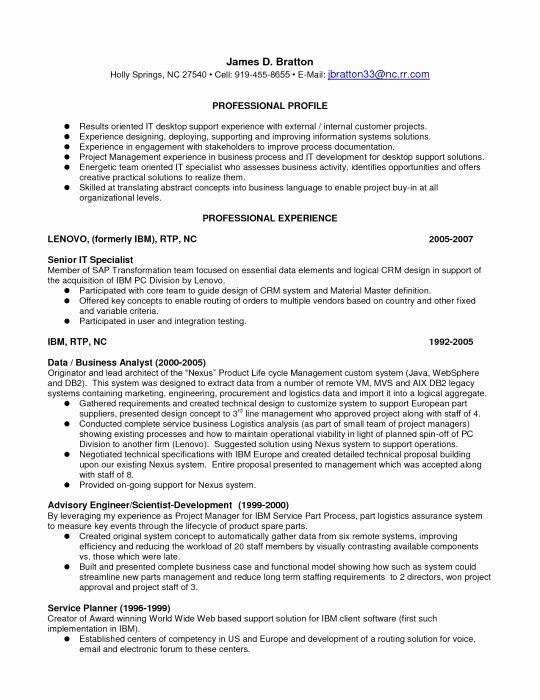 Desktop Support Resume Sample