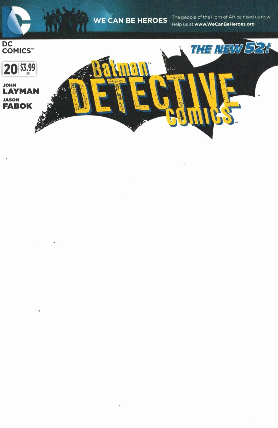 Detective Ics 20 Blank Variant Cover We Can Be Heroes