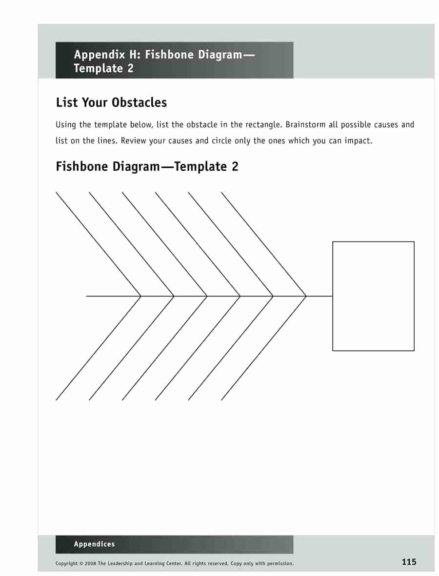 Diagram Blank Lab Fishbone Diagram Template