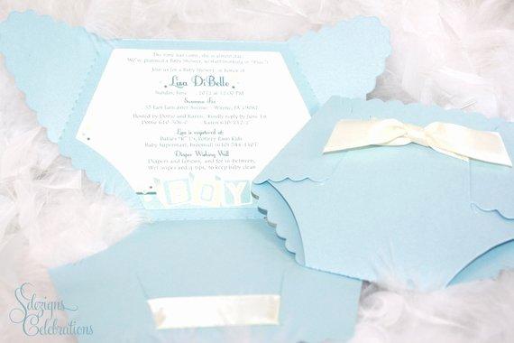 Diaper Baby Shower Invitation Baby Block Design