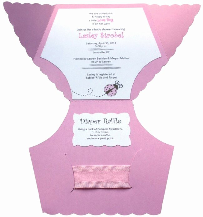 Diaper Baby Shower Invitations Sample