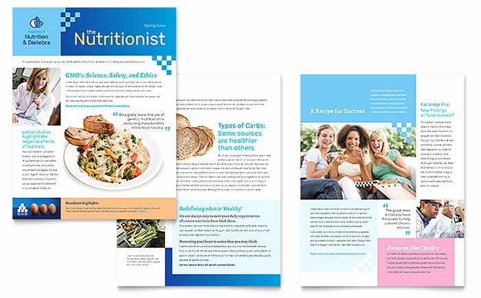 Dietitian Newsletter Template Word & Publisher