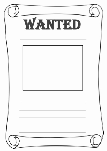 Differentiated Wanted Poster Worksheets by