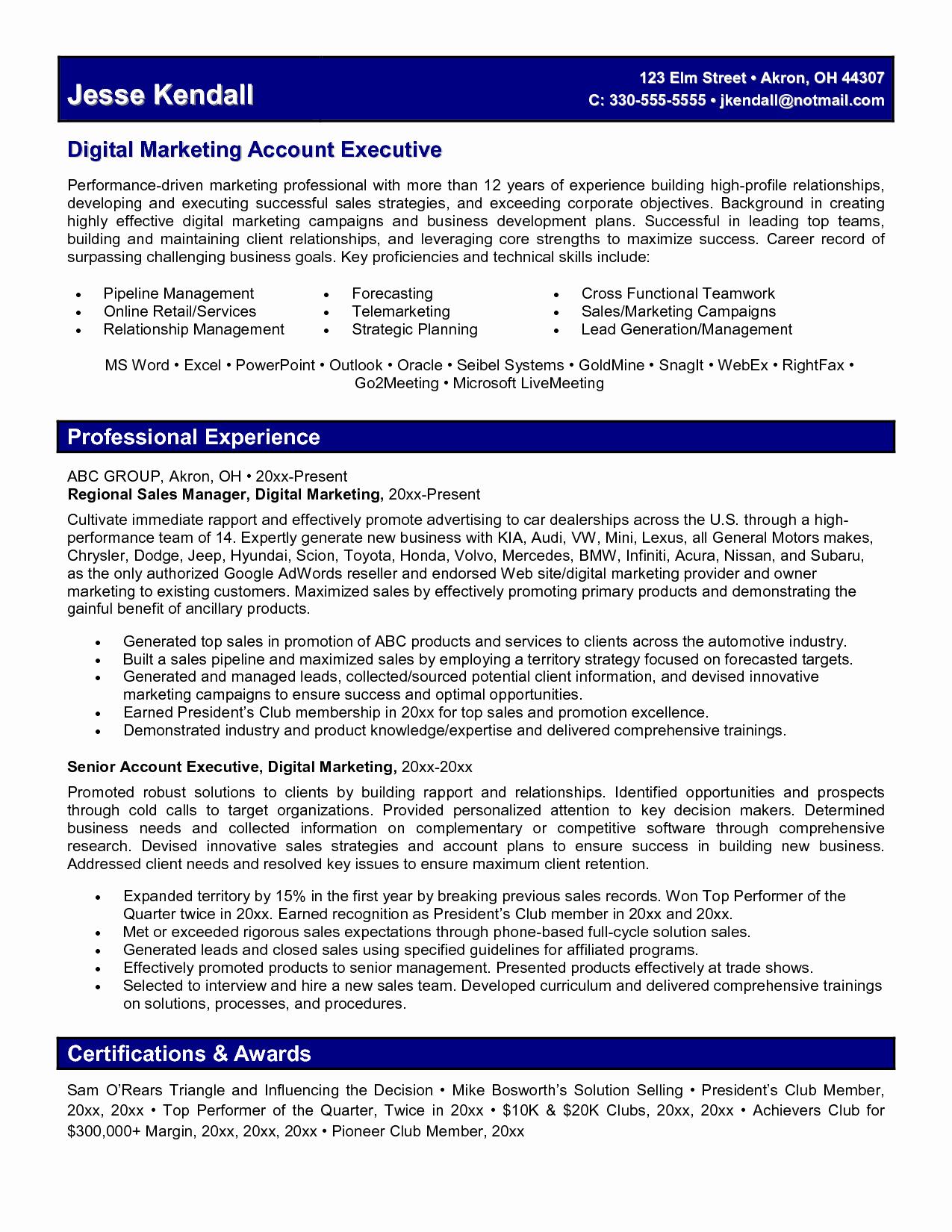Digital Marketing Resume