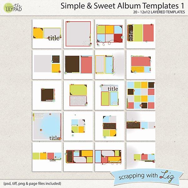 Digital Scrapbook Template Simple & Sweet Album