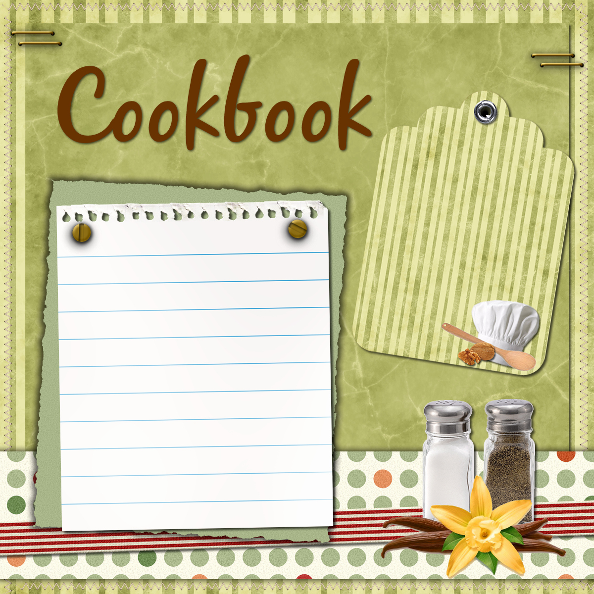 Digital Scrapbooking Cookbook Recipe Freebies and Try It