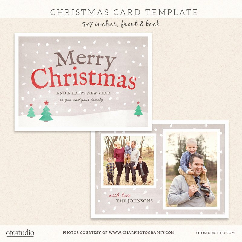 Digital Shop Christmas Card Template for by Otostudio