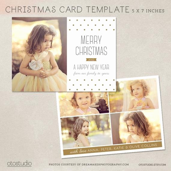 Digital Shop Christmas Card Template for Photographers