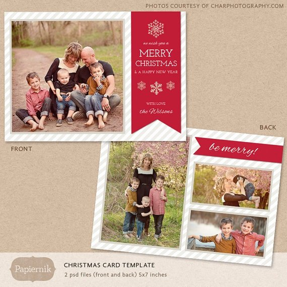 Digital Shop Christmas Card Template for