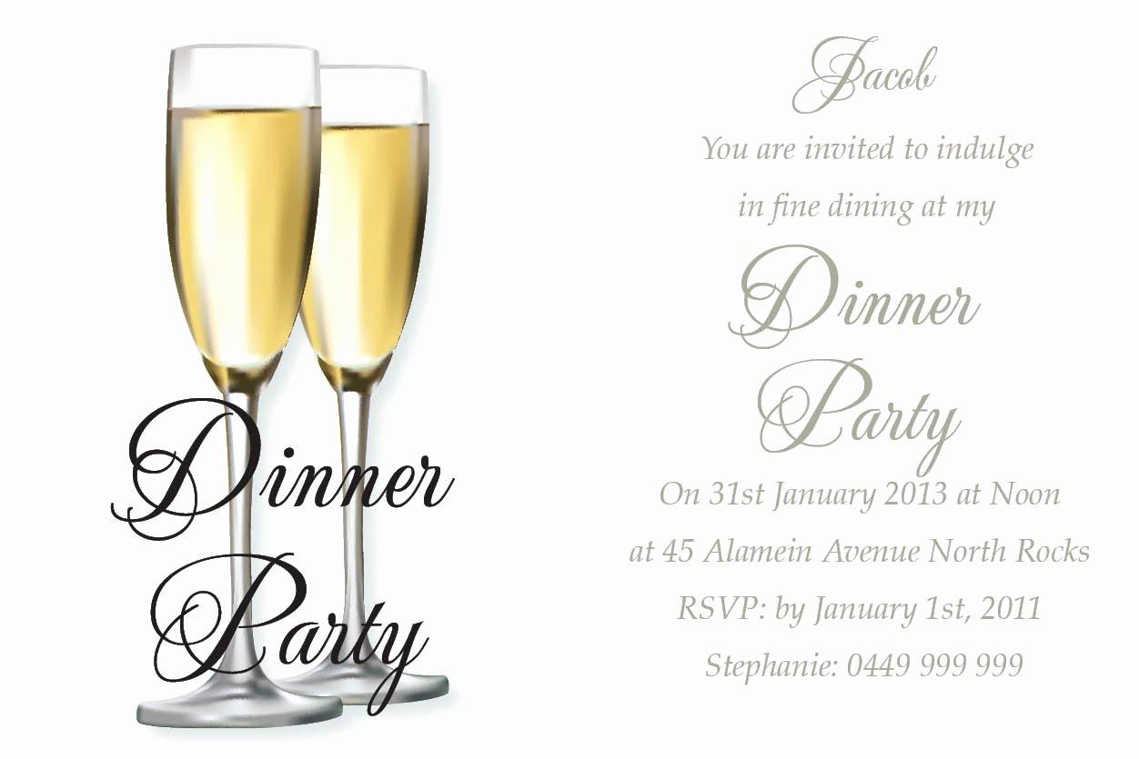 Dinner Invitation Card