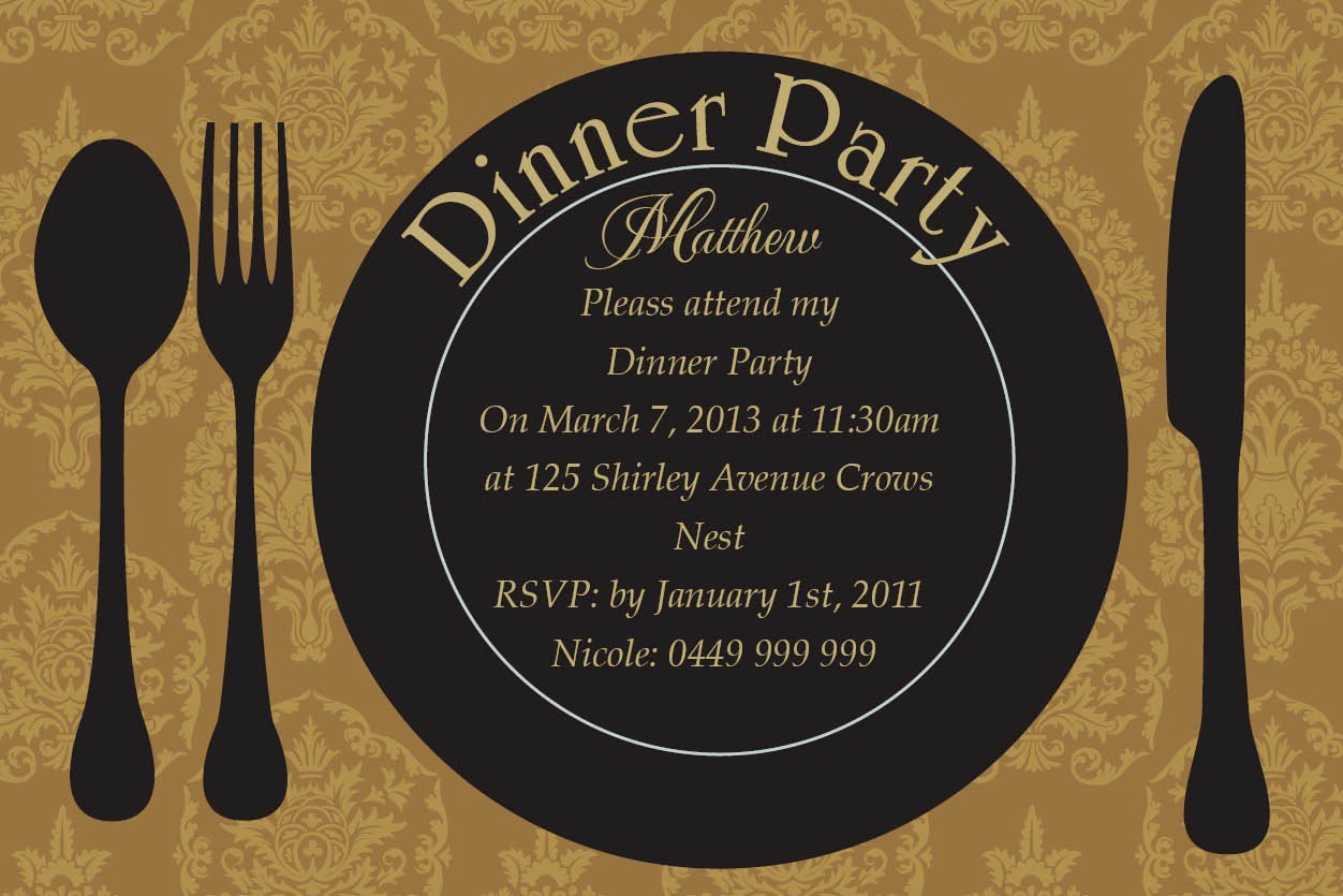 Dinner Invitation Cards