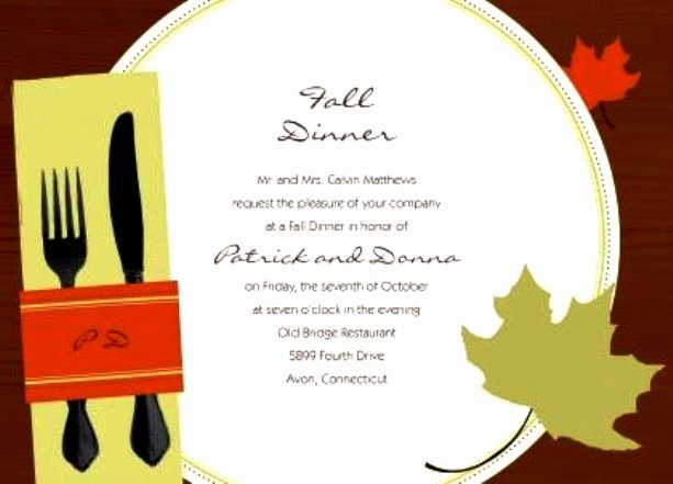 Dinner Invitation Templates