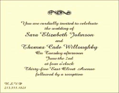 Dinner Reception Invitation Wording