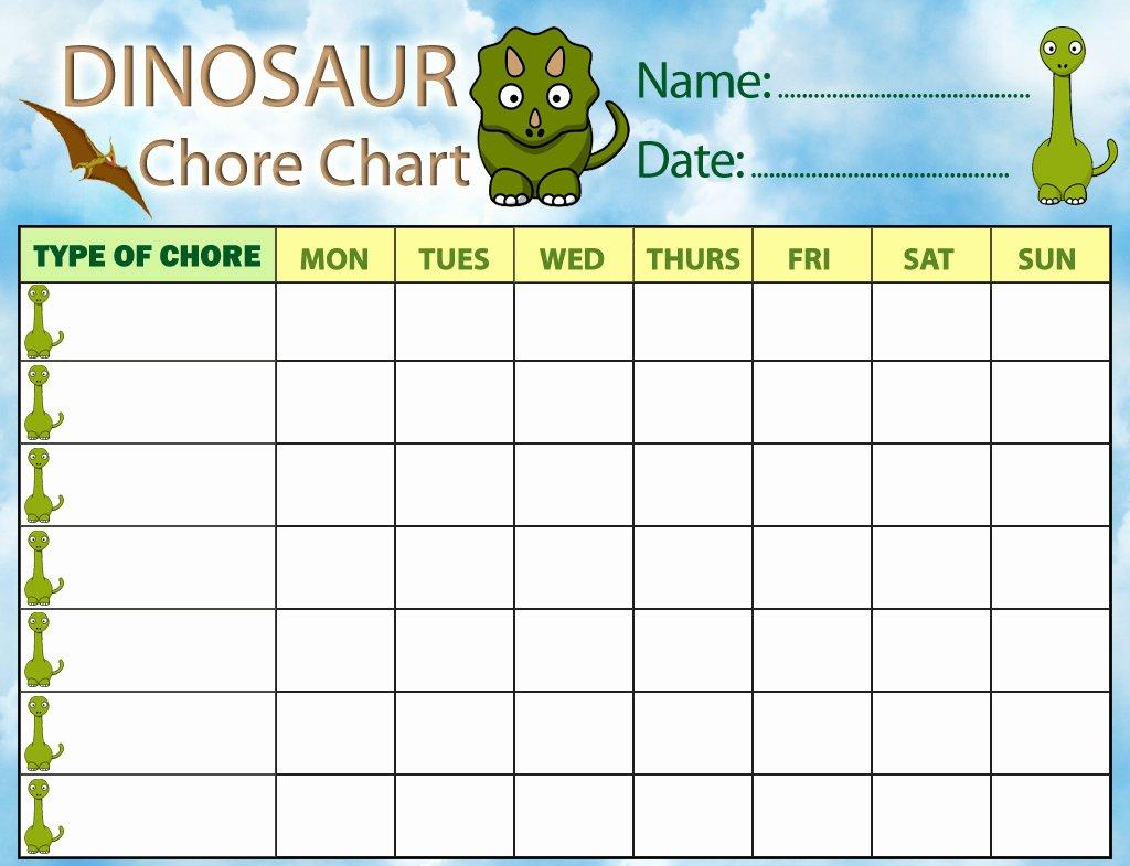 Dinosaur Chore Chart