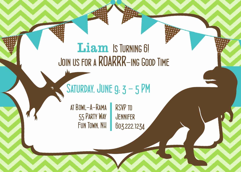 Dinosaurs Invitation for Birthday