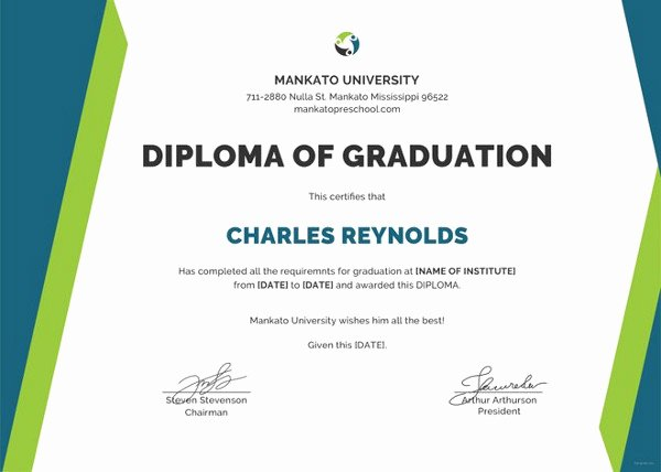 Diploma Certificate Template 30 Free Word Pdf Psd
